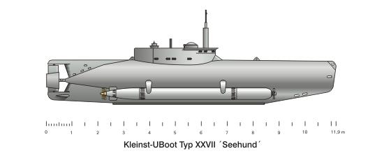 Valuable Seehund midget submarine